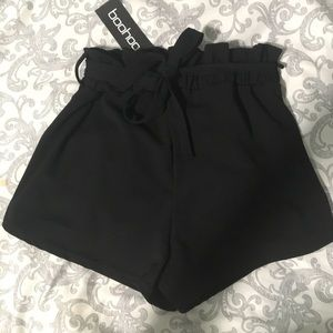 high waisted tie front shorts